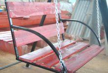Качеля садовая из металла