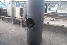 Банная печь из трубы 530